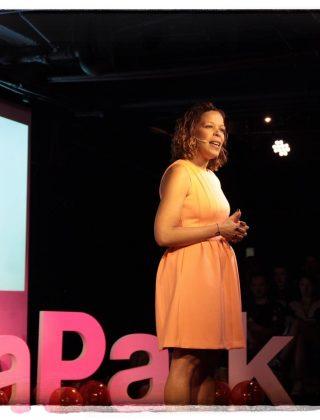 Elaine Montilla on the TEDx Stage