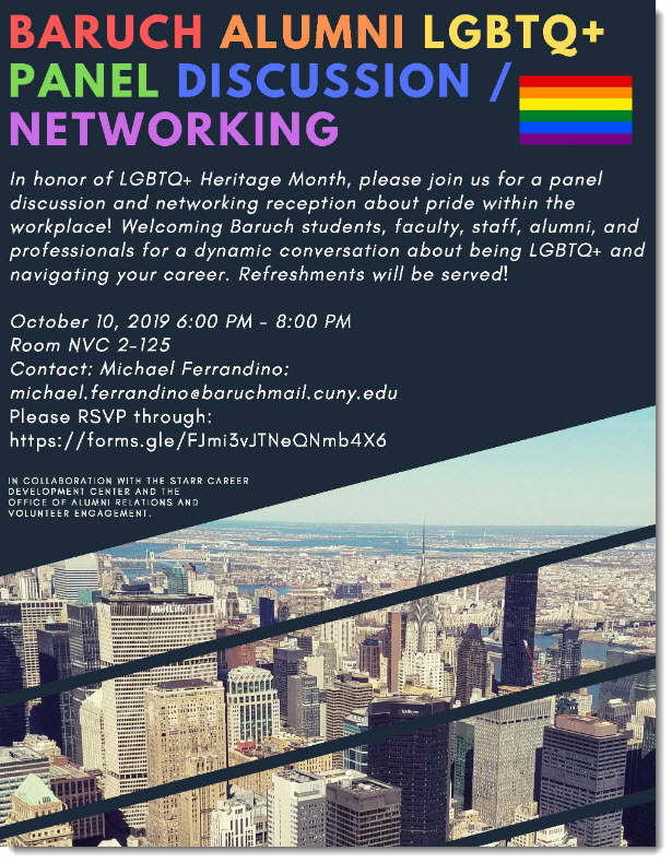 Baruch LGBTQ+ Panel
